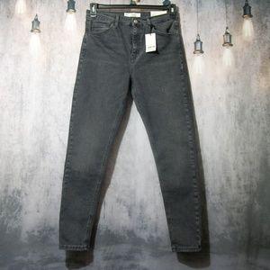 Topshop Moto Jamie High Waist Ankle Jeans 32